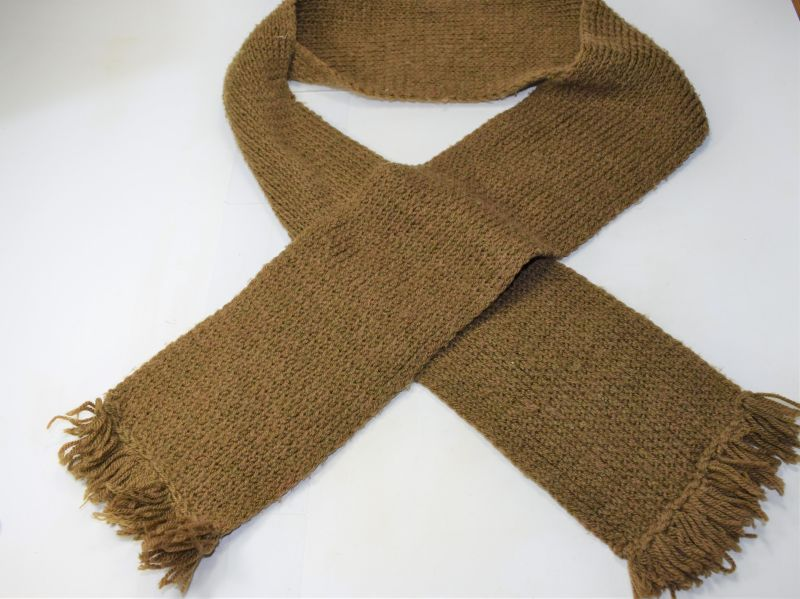 42) Original WW2 British Military Knitted Comforts Woollen Scarf