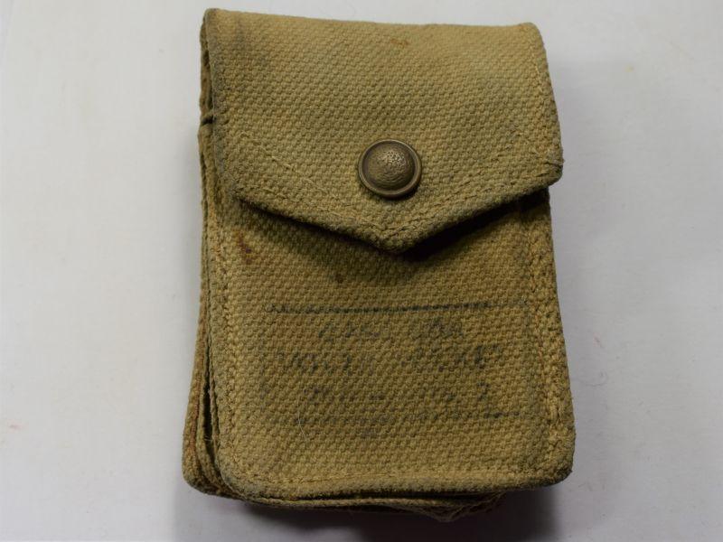 44) Original WW2 British Army Volt Meter Webbing Pouch