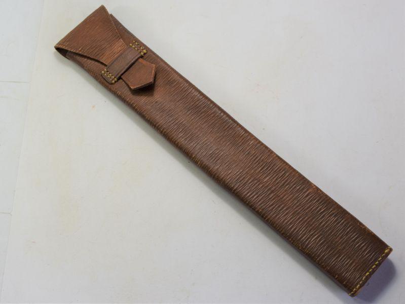 95) WW2 British Leather Storage Case, Slide Rule? S.N.Ltd 1944