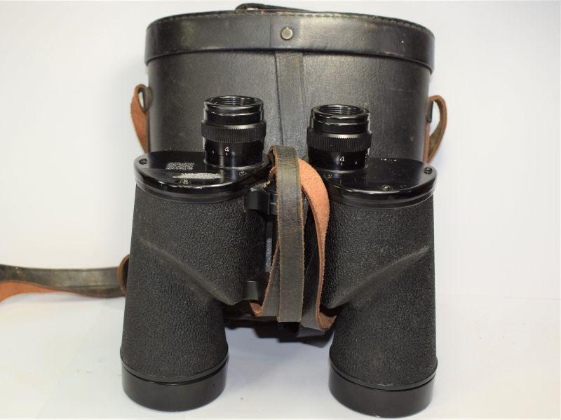 96) Excellent WW2 US Bausch & Lomb 7X50 Binoculars & Issue Case 1941