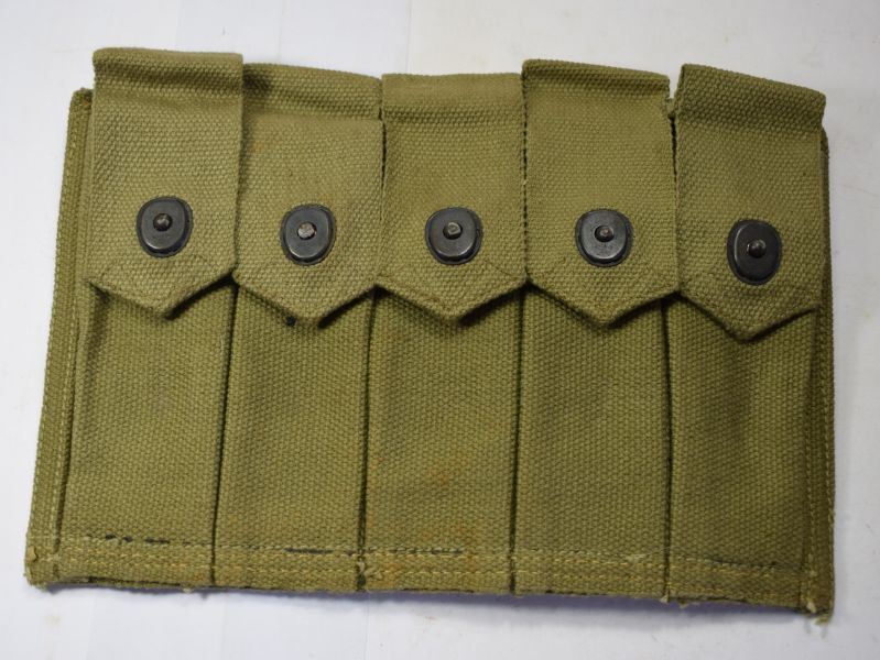101) Mint Original Unissued US Army Thomson SMG 20 Round Mag Belt Pouch