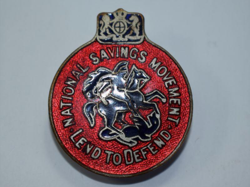 127) Original WW2 National Savings Lend to Defend Mans Lapel Badge