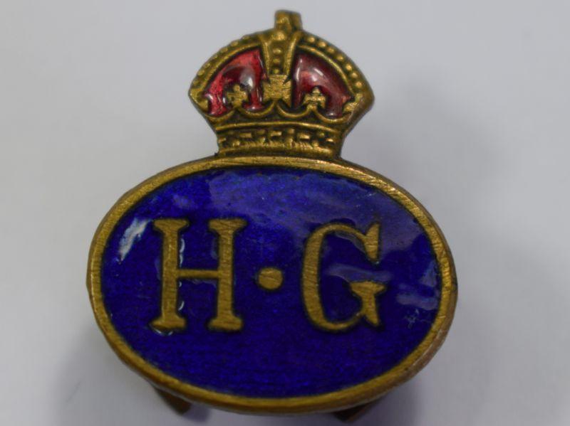 129) Excellent Original WW2 Home Guard Enamel Lapel Badge