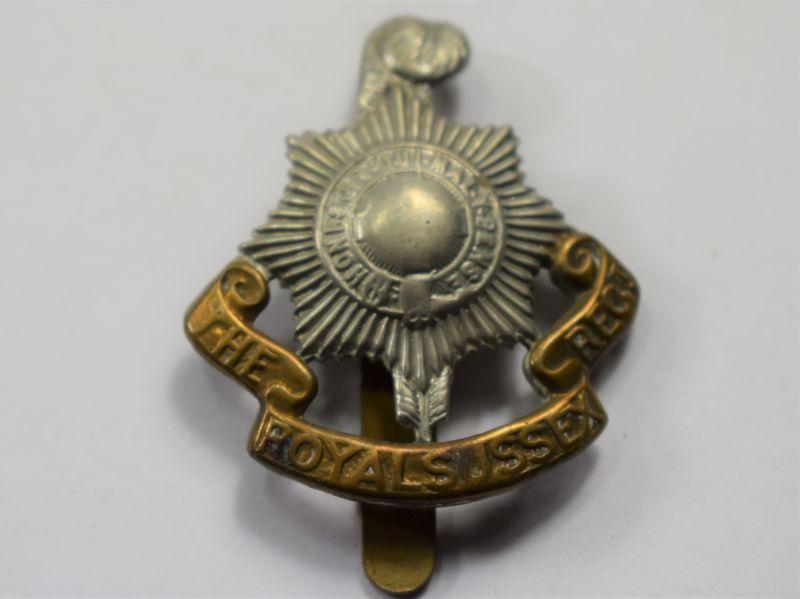 40) Original WW1 WW2 Royal Sussex Regt Bi Metal Cap Badge