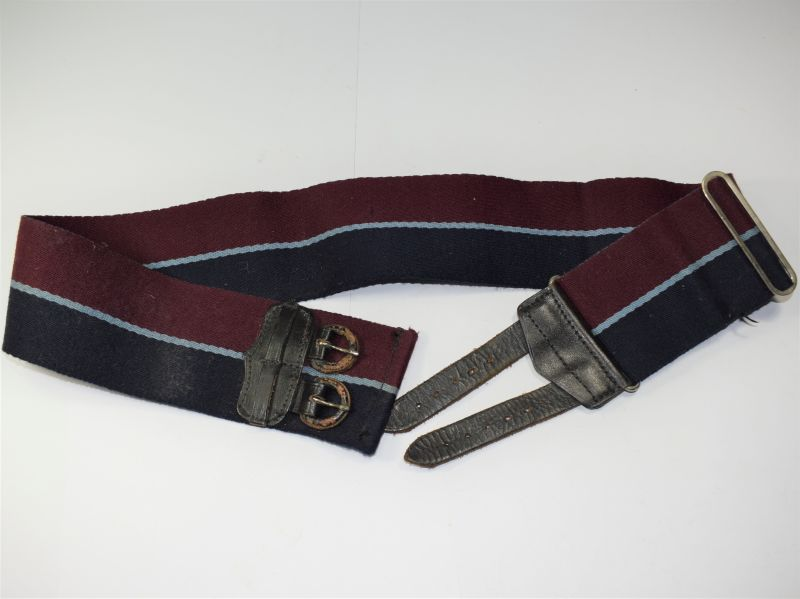 56) Excellent Vintage RAF Issue Stable Belt Adjustable to 38 Inch Waist