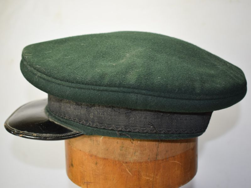 118) Original WW1 WW2 British Army Green Regimental Peaked cap
