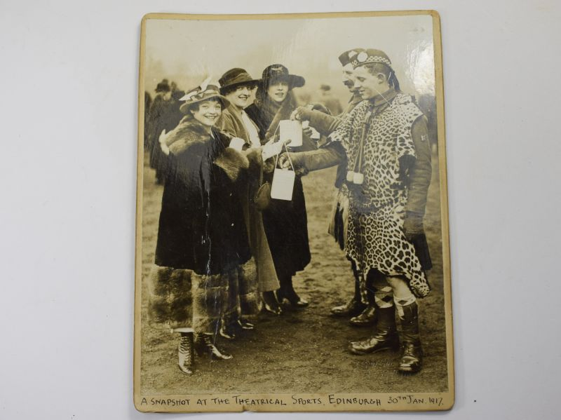 59) WW1 Photo A Snap Shot & Theatrical Sports Edinburgh 30th Jan 1917