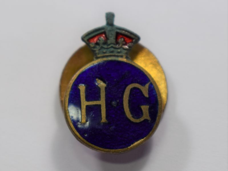 137) Original WW2 Home Guard Round Lapel Badge