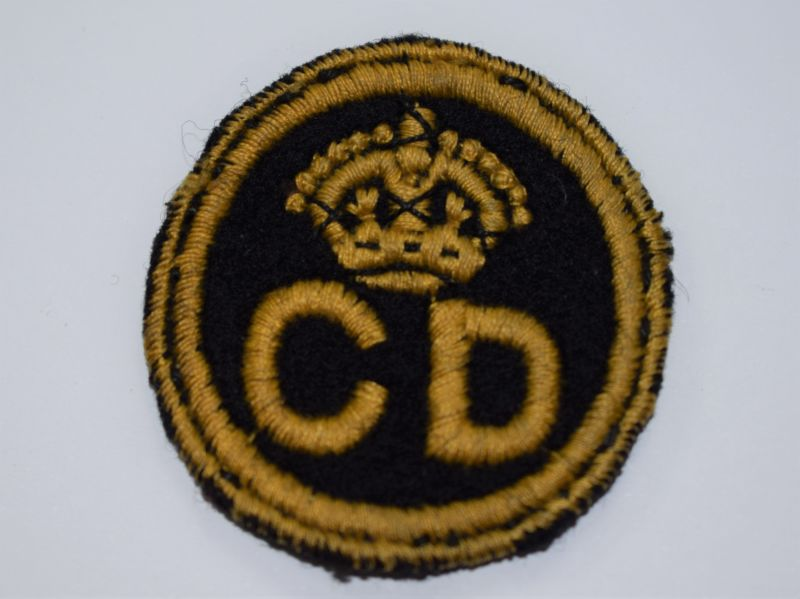 142) Original Small WW2 Civil Defence Cloth Badge from Cap