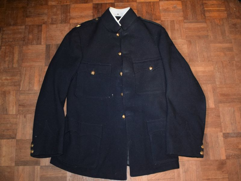 146) WW1 WW2 British General Staff Officers? Blue Service Dress Jacket