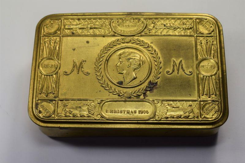 76) ) Good Original WW1 British Princess Mary Gift Tin Christmas 1914