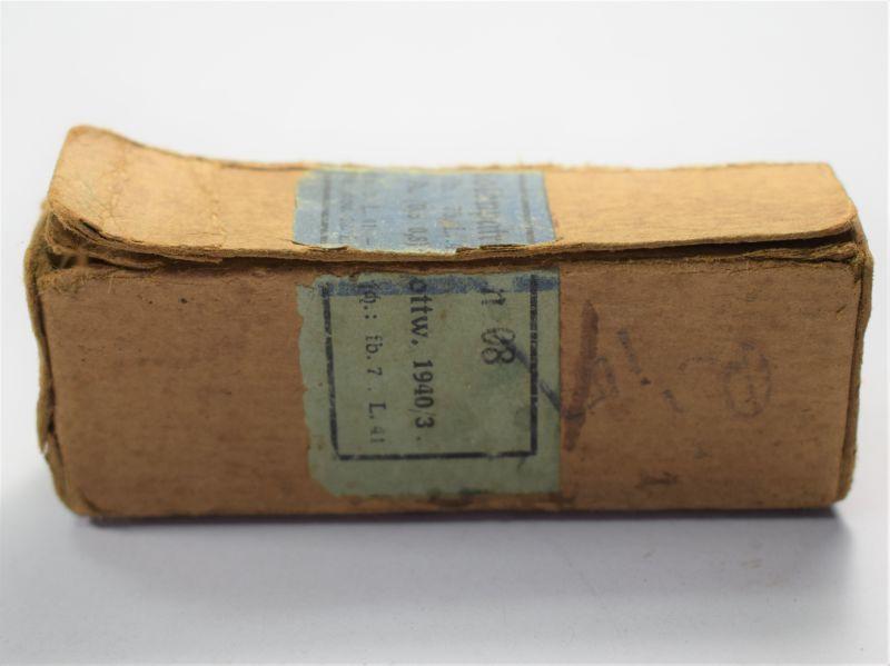 93) Original Small WW2 German Card Box For Pistol Ammo