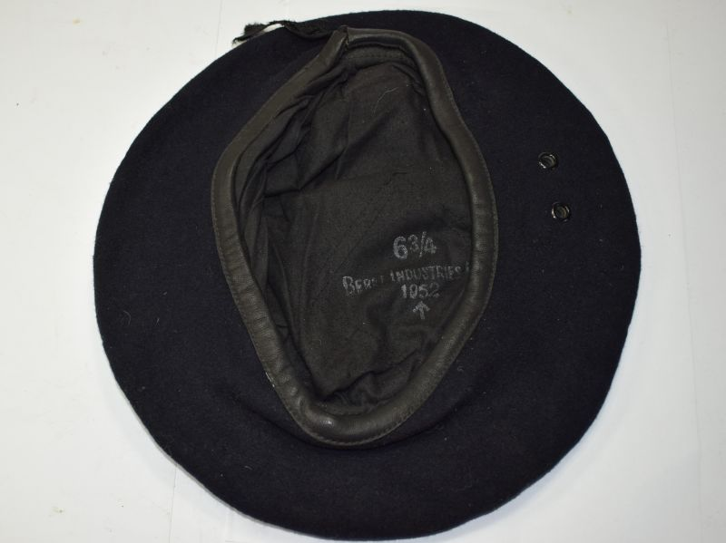 3) Original Post WW2 British Dark Blue Beret, Beret Industries Ltd 1952