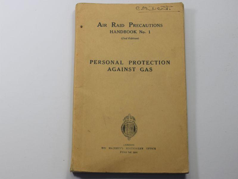 40) Original WW2 ARP Hand Book No1 Personal Protection Against Gas 1939