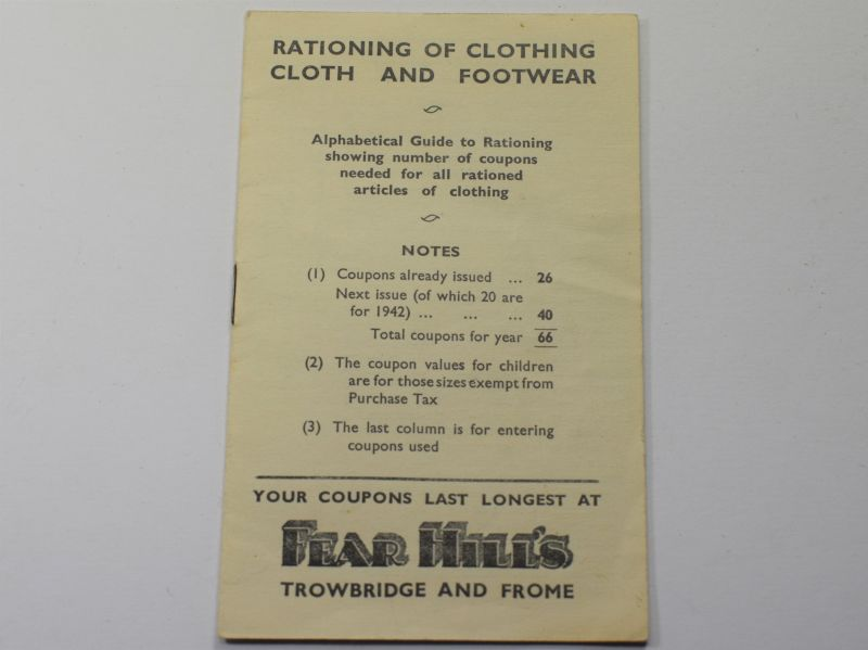 44) Interesting Guide on Ration Coupons Needed For Articles of Clothing