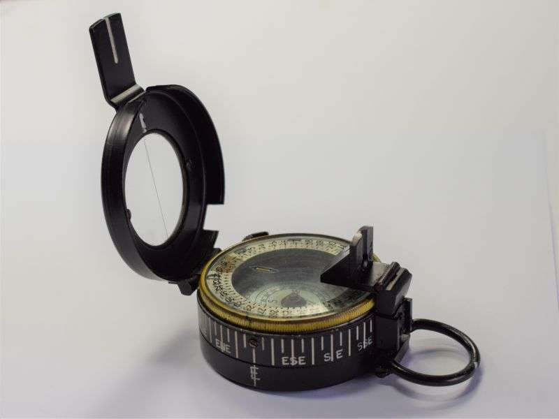 91) Excellent Clean Original British Army MKIII Marching Compass 1944