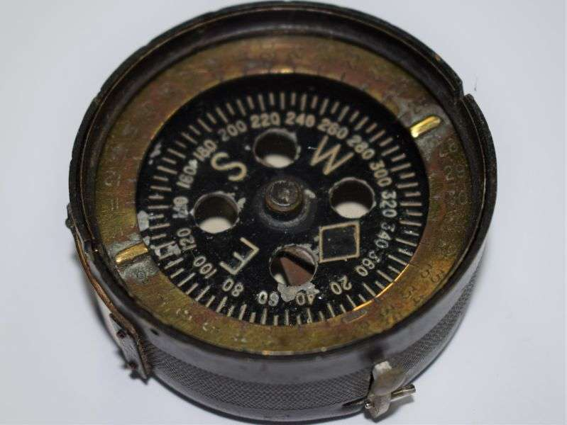 4) Nice Original WW2 Indian Made British Military MKII Marching Compass 1944