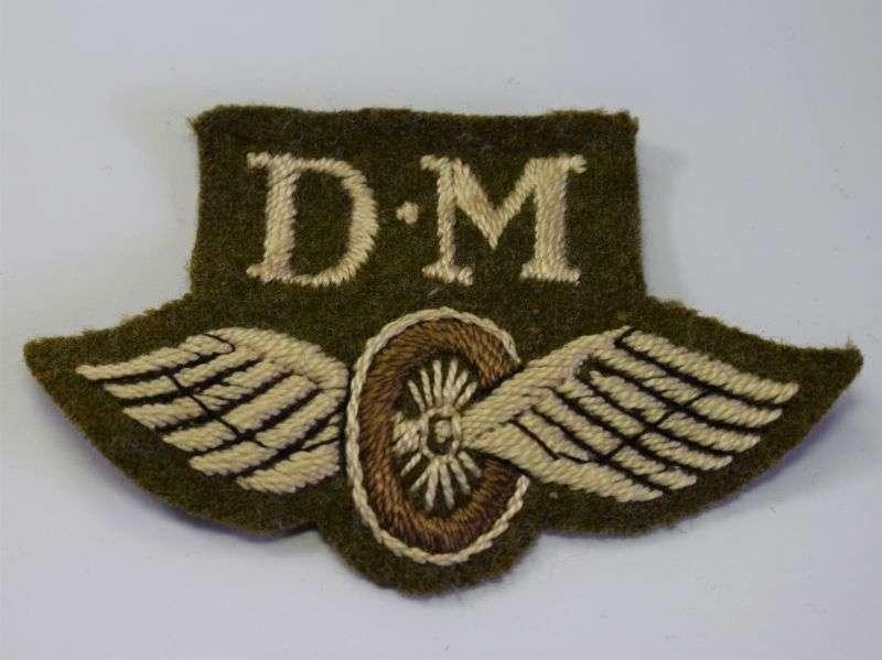 112) Original WW2 Driver/Mechanic Winged Wheel Sleeve Badge