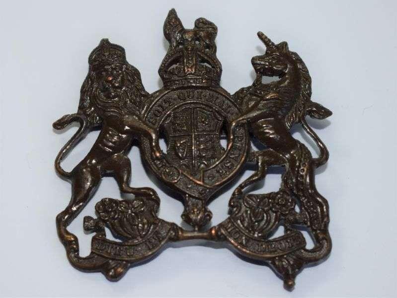 147) Excellent Original WW1 WW2 Officers Bronze GS Cap Badge