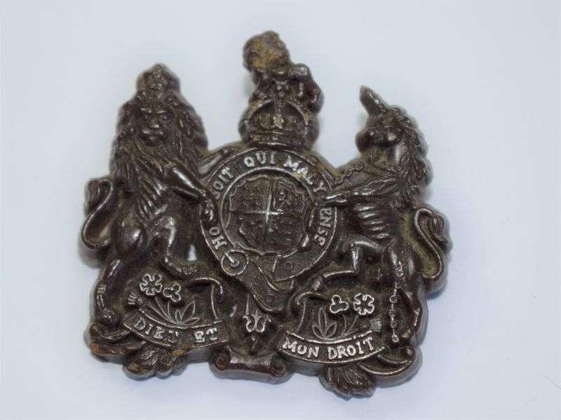 148) Original WW2 British Army General Service Economy Cap Badge