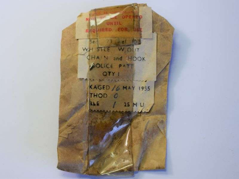 154) Original Packaging for Air Ministry Tube Whistle