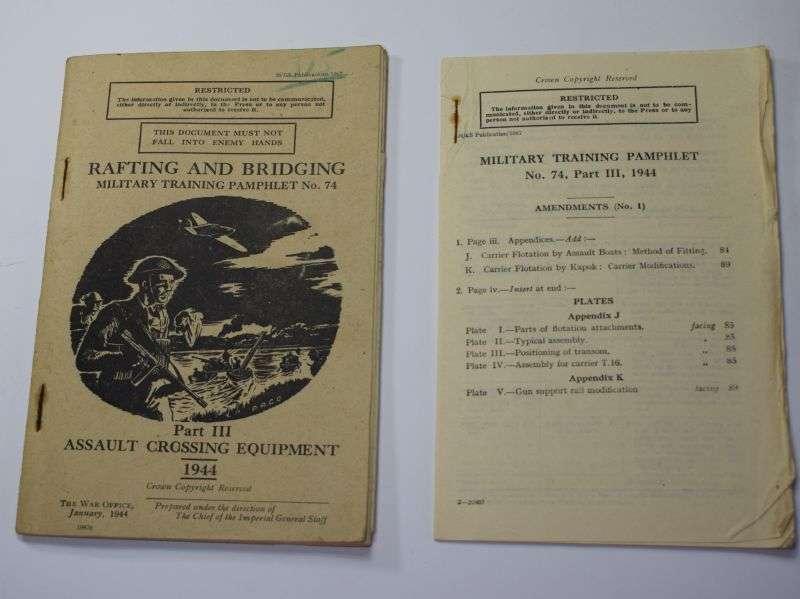 42) Original WW2 Rafting & Bridging Military Training Pamphlet No74. January 1944