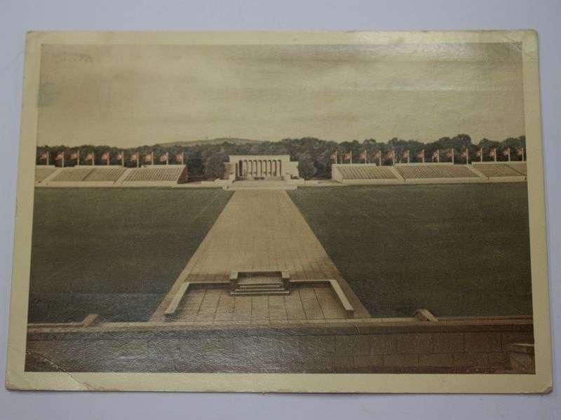 46) Original WW2 German Postcard of Nuremburg Stadium 1941