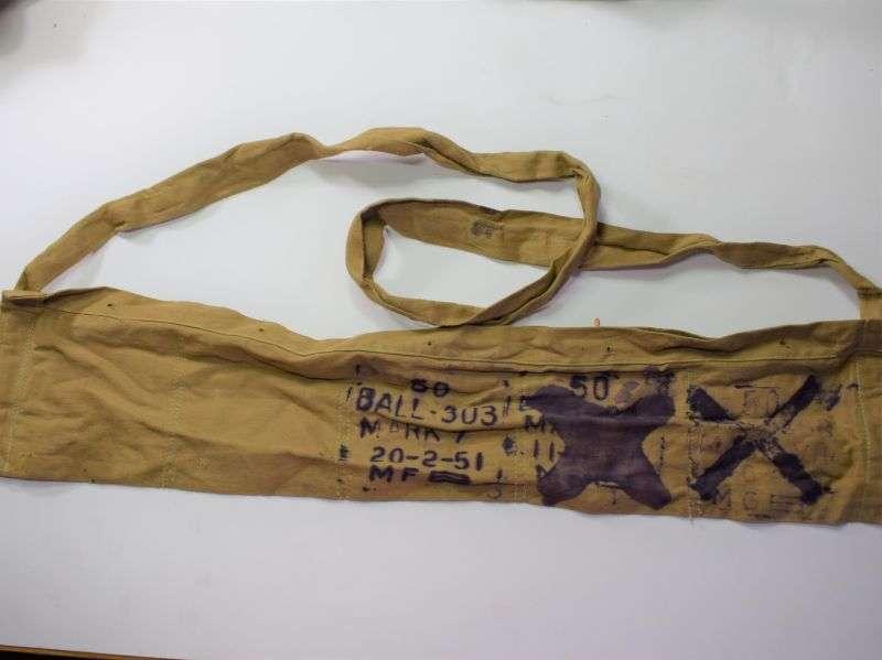 67) Original Early British Army 50 Round Cotton Bandolier 1941?