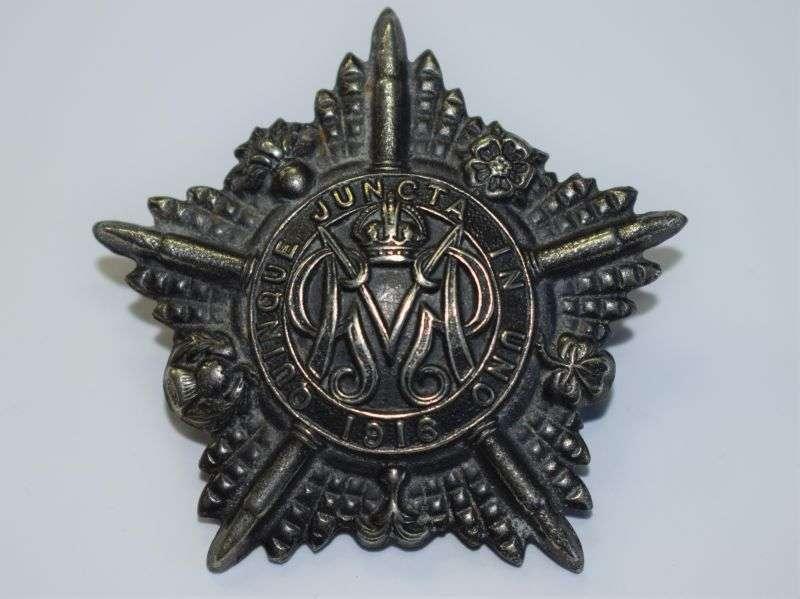 21) Original WW1 Guards Machine Gun Battalion Cap Badge