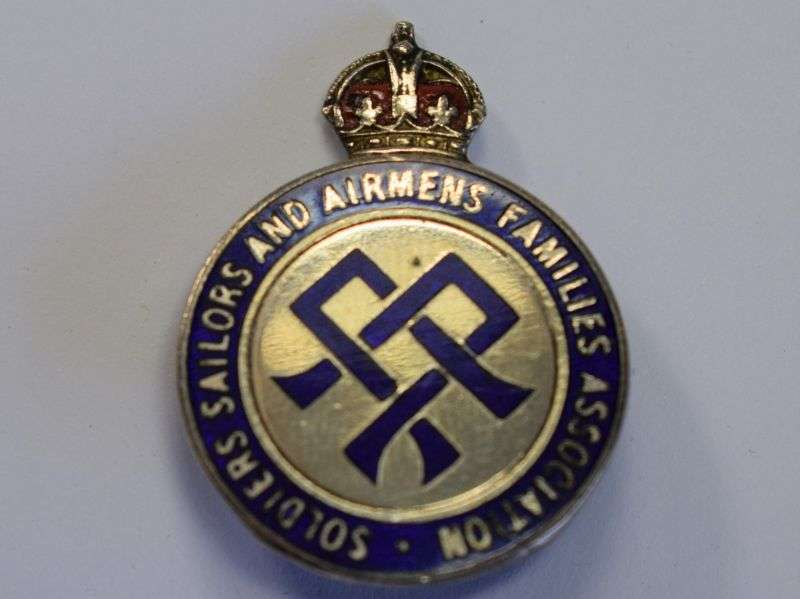 23) Excellent Original WW2 Pin Badge Soldiers, Sailors & Airman's Families Association