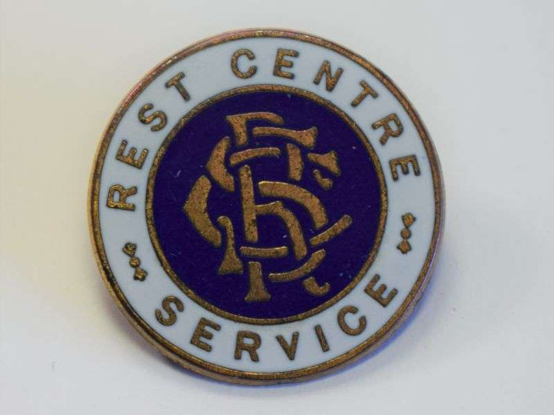 24) Original WW2 Rest Centre Service Enamel Pin Badge