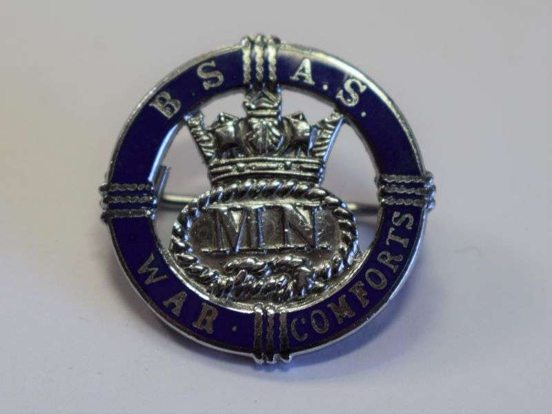 25) Excellent Original British Ship Adoption Service War Comforts Badge