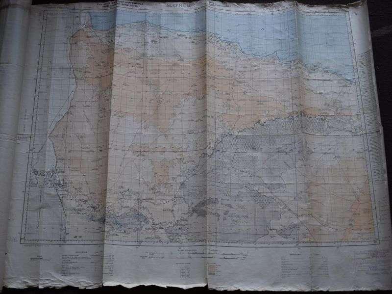 33) Original WW2 British Map North Africa Egypt, Matruh 1941