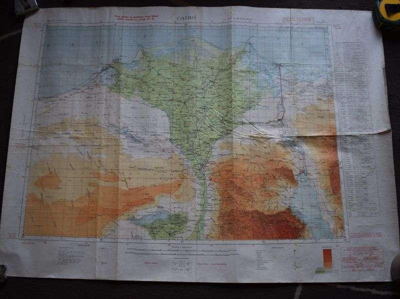 36) Original WW2 British Map North Africa Egypt, Cairo 1942