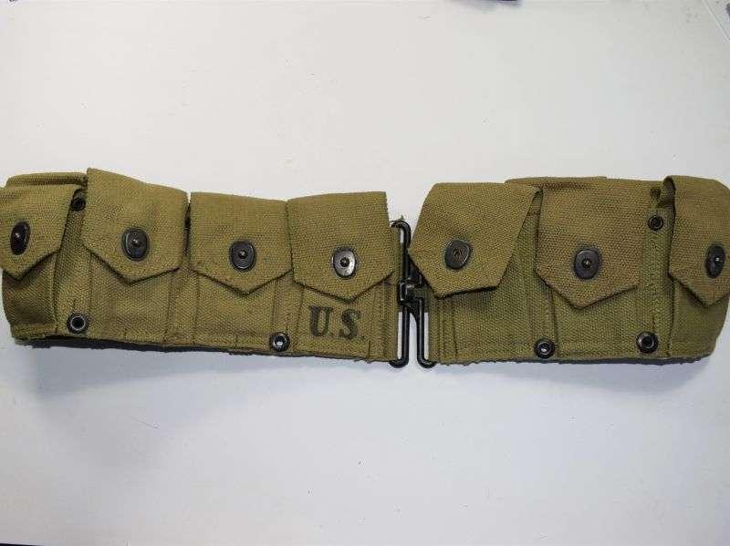 GD1) Unissued WW2 US Army M1 Garand Ammo Belt Dated 1942