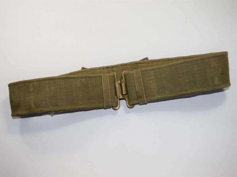GD3) Original WW2 British Army 37 Pattern Web Waistbelt MECo 1943