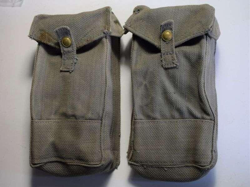 114) Nice Unissued WW2 RAF Bren Mag Pouches J&AH Ltd Ltd 1942
