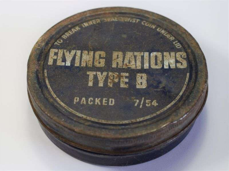 12) Original RAF Cold War Issue Flying Rations Type B Tin 1954