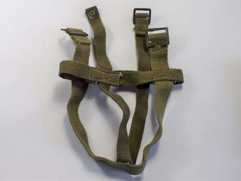 125) WW2 Indian Made Water bottle Cradle in Jungle Green