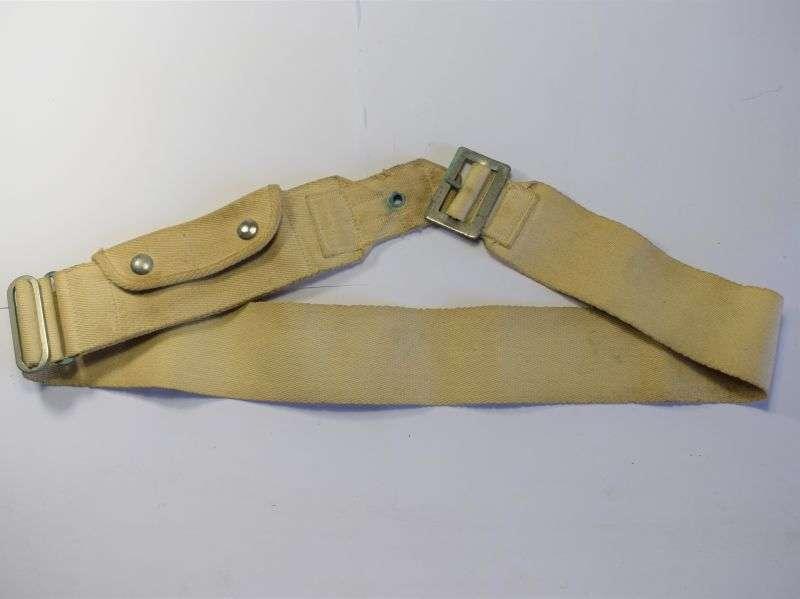 60) Original WW2 Royal Navy Ratings White Money Belt Dated 1943