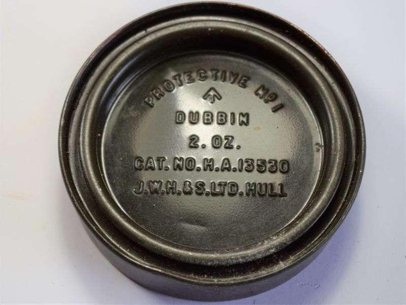 28) British Army Late WW2 – 1950s Dubbin Protective No1 Tin & Contents