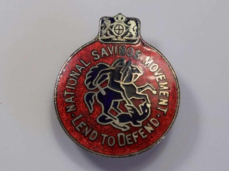 33) Original WW2 Mans Lend to Defend National Savings Lapel Badge