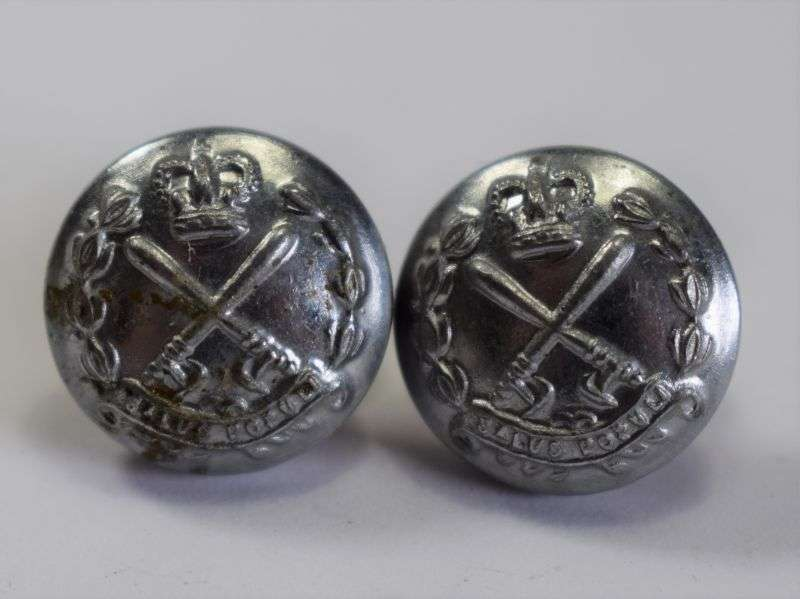 68) Original British Colonial Police Cap Side Buttons