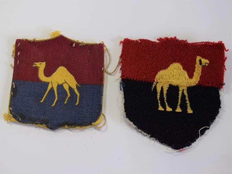 70) Original Mismatched British GHQ Middle East Land Forces Cloth Badges