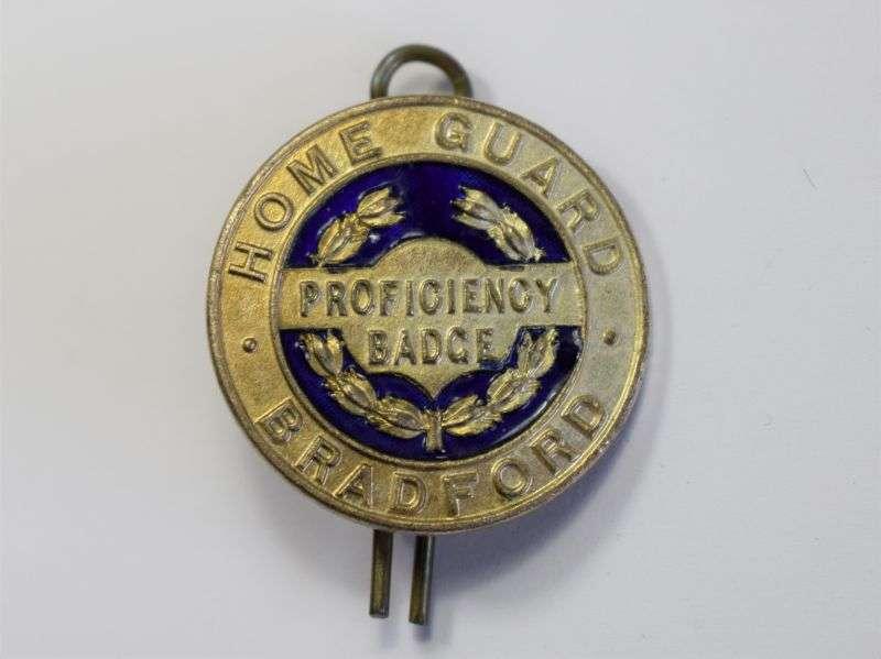 41) Excellent Original WW2 Bradford Home Guard Proficiency Badge