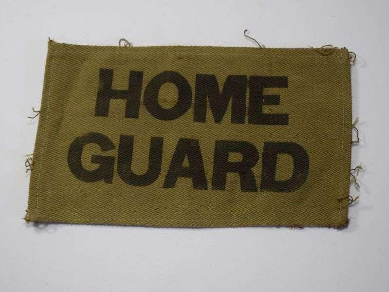 79) Original WW2 Home Guard Sew On Arm Badge
