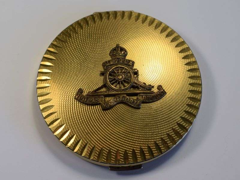 1) Excellent Original WW2 Woman's Sweetheart Compact With RA Badge