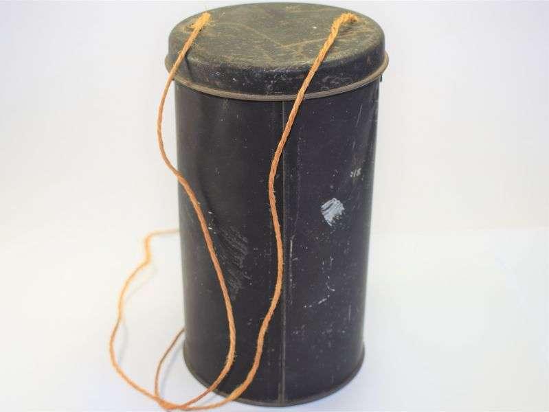 9) WW2 British Home Front Civilian Respirator Tin Named to Hazel Boulton 1944