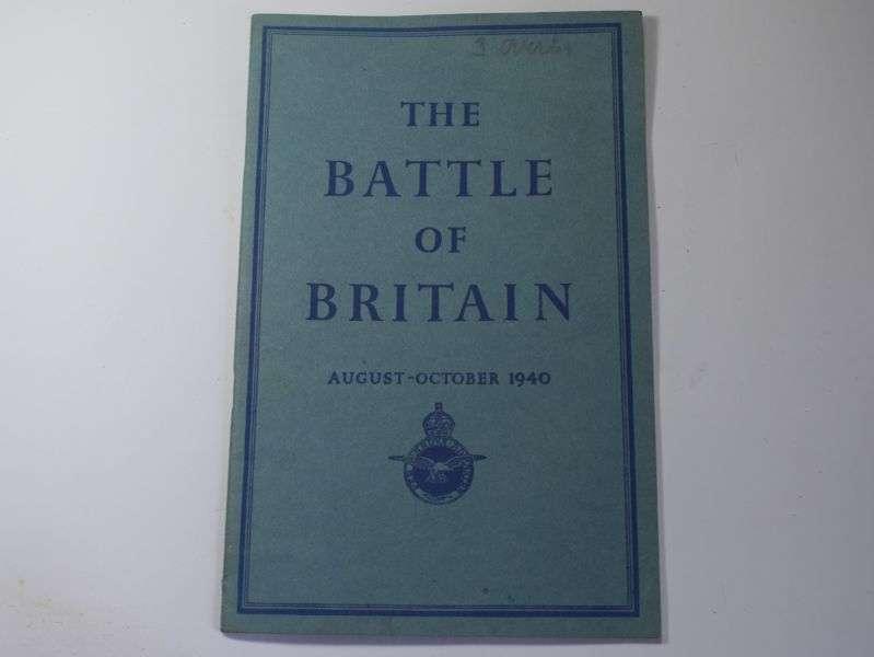 154) Original WW2 HMSO Printed Account The Battle of Britain 1940
