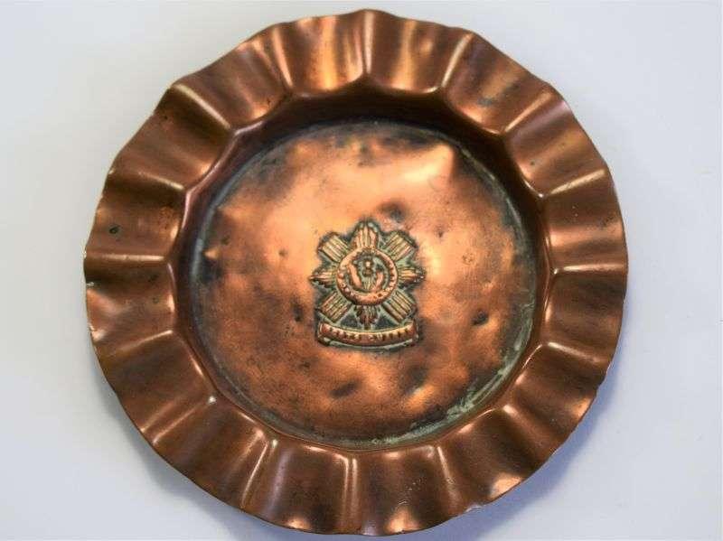 23) WW1 WW2 Scots Guards Copper Ash Tray
